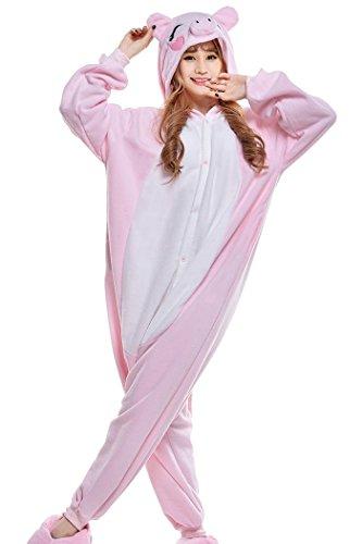 wotogold Damen 1 Tier Pig Pyjamas Cosplay Kostüme 1 Medium Rosa