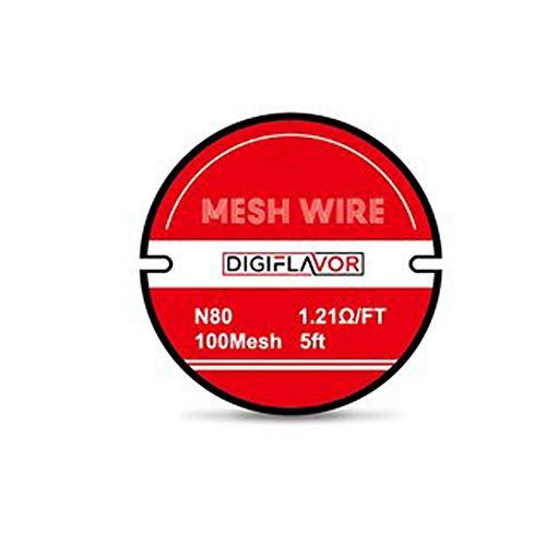 Digiflavor Mesh Wire N80 100Mesh 5ft ca. 1,524 Meter nikotinfrei Nickel Wire Mesh