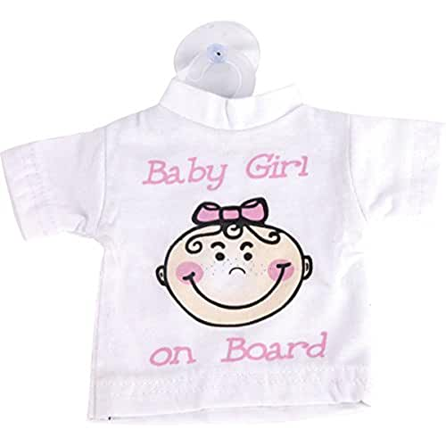 Baby On Board Girl Mini Insignia coche señal camiseta con ventosa Funny Cute hermana Brother de bebé para coche pegatinas