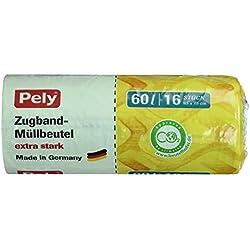 Pely Clean Multi Müllbeutel mit Zugband 60l extra stark, 16 Stück