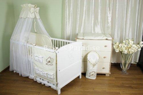 Baby Bettwäsche Set mit Applikation (Bär Ballon) (5 tlg, Beige)