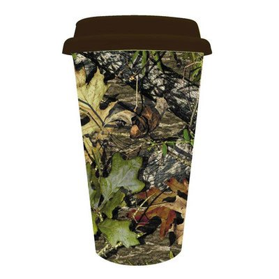 Mossy Oak 10 oz. Double Wall Ceramic Cup with Silicone Lid by Cypress