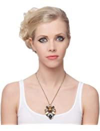 SEXYHER Sparkling Retro Blumen Pendel Halskette Mit Strass-und Kristallglas SHWM20131007N026