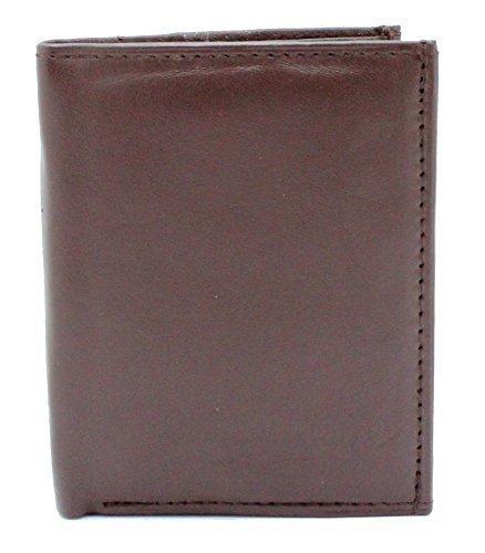 RAS® Herren Echtes Weiches Leder Geldbörse & Kreditkartenhalter Mit Münzspeicher #48 (Braun) Braun