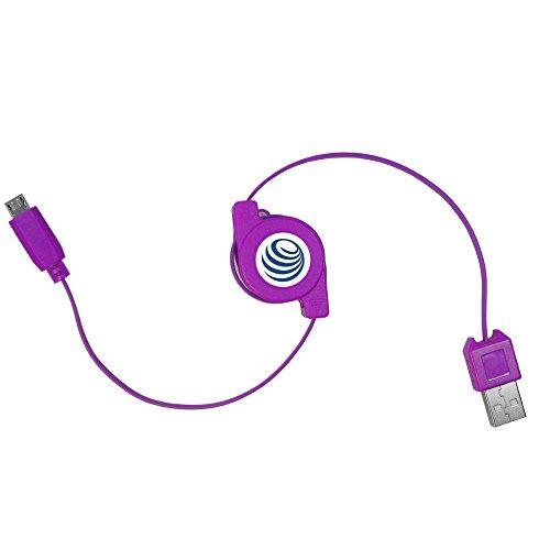 Ausziehbares Micro USB 2.0 Kabel Rollkabel Kabelrolle Ladekabel Datenkabel für Datenübertragung für Samsung Galaxy S3 S4 S5 mini active Note 2 3 Ace Wave Zoom (USB-A Stecker an Micro-B Stecker)
