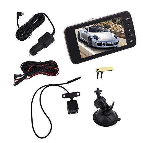 Car Auto Full HD 1080P Voiture DVR caméra 4.0 Pouces Rearview Mirror enregistreur vidéo numérique Double Objectif Registraire Caméscope