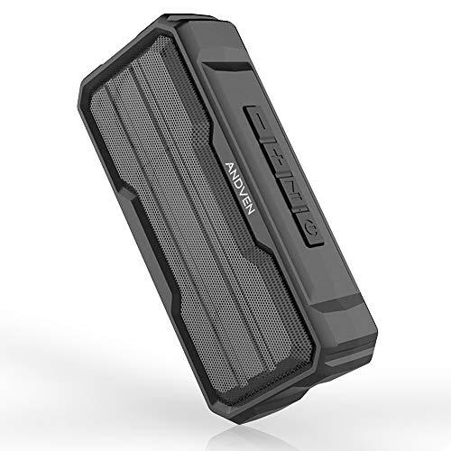Andven Bluetooth Lautsprecher, Wireless V5.0 Bluetooth Speakers mit Eingebauten Mikrofon, IPX6 Wasserfest, Einfach Tragbar Lautsprecher für iPhone, Samsung usw