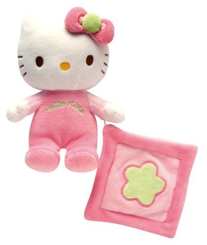 Jemini Plüsch Rassel mit Mini Kuscheltier-Hello Kitty (Kitty Hello Spielzeug Plüsch Puppe)