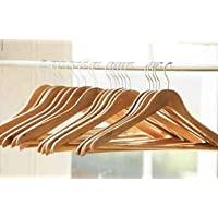 Pack of 40 Wooden Clothes Coat Trouser Hangers
