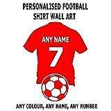 Wandaufkleber Nach Maß Personalisieren Sie Wand Fußball-Shirt Mit Einem Beliebigen Namen Und Nummer Aufkleber Aufkleber