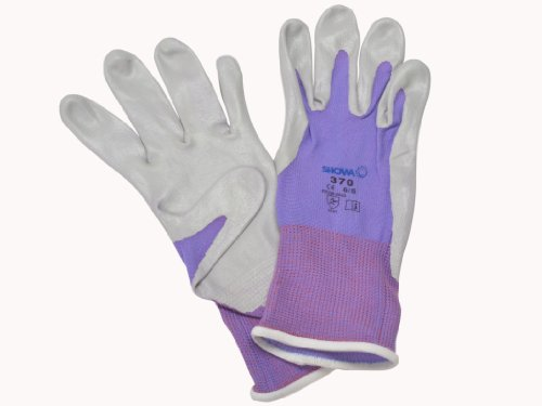 TEGERA 90067 Ladies Womens Pink Gardening Gloves Latex Water Repellent Palm Size 9 Large