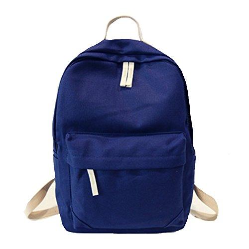 Ohmais Rücksack Rucksäcke Rucksack Backpack Daypack Schulranzen Schulrucksack Wanderrucksack Schultasche Rucksack für Schülerin blau dunkel