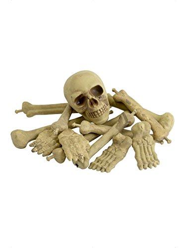Skelett Gebeine Gerippe Knochen Halloween Leichen Torso Stücke (keine (Skelett Teile)