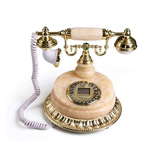 BJYG Telefon - Marmor antike europäische Taste Dial Fixed Wired Telefon Retro Seat Home Festnetz -