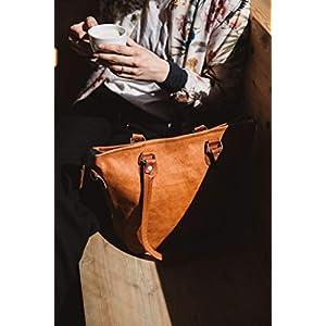 41x009wBdvL. SS300  - Gusti Bolso bandolera Therese bolso cruzar bolso mediano vintage marrón cuero