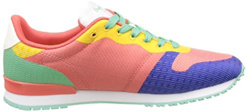 Pepe Jeans Damen Gable Twister Sneakers Pink (Red Dahlia)