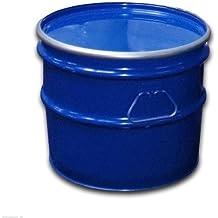 Barril de metal, tonel metálico, azul, con tapa 30 L (23020)
