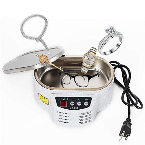Honoen Mini-Reinigungsmaschine, elektrische Reinigung Sauber, kompakt und leicht Geeignet für die Reinigung von Schmuck, Brillen, Leiterplatten, Dekorationen, Kopfbedeckungen