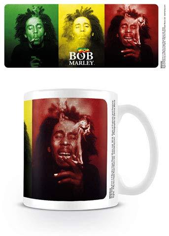 empireposter Marley, Bob - Tricolour Smoke - Keramik Tasse Mug Becher - Ø8,5 H9,5 cm