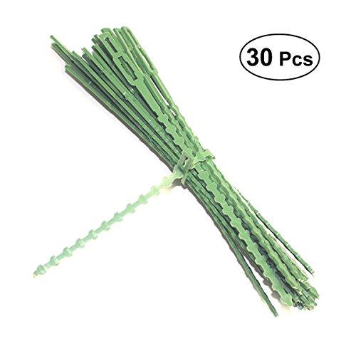 OUNONA 30PCS Kabelbinder aus Kunststoff für Den Garten Nylon Kabelbinder mit Kunststoff-Schnappverschluss Torsion Krawatten Bindegarn Drehbinder