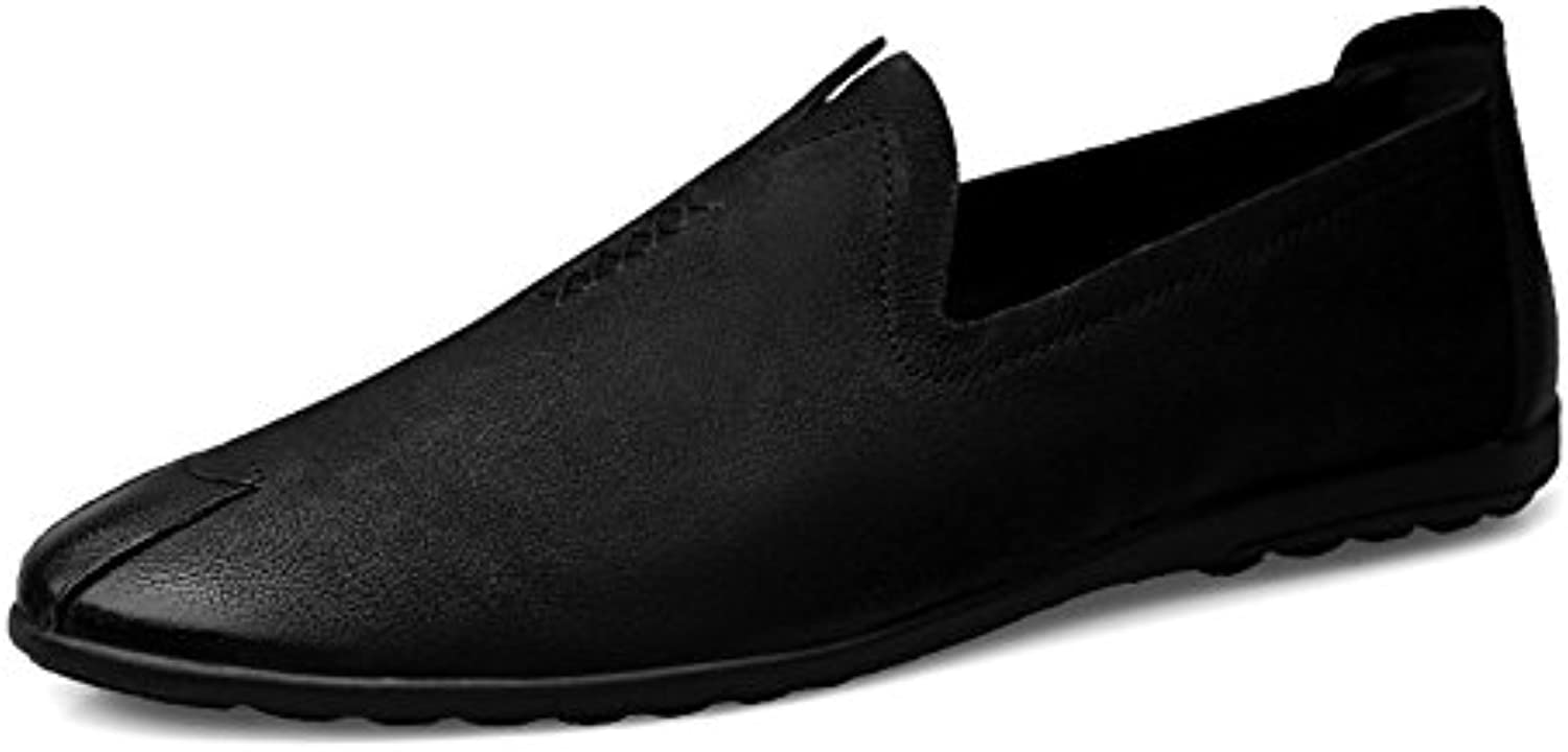 Men's Leather Shoes Shoes Shoes Spring Classic Classic Driving Shoes Casual Black For Male Running Sports e3dd52