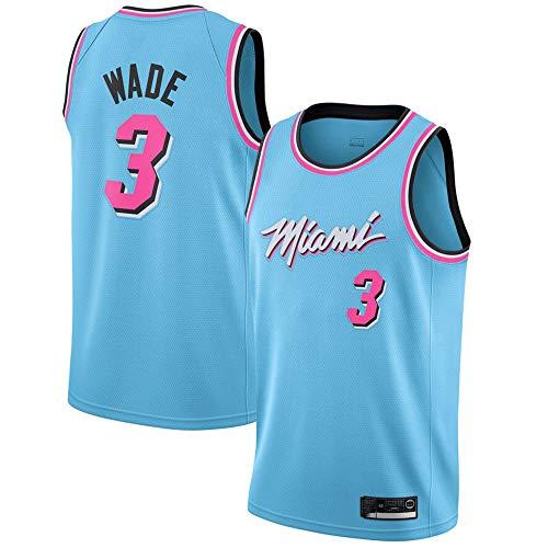 Herren Basketball Trikot Miami Heat 3# Wade Jersey Herren Basketball Anzug Atmungsaktiv Weste