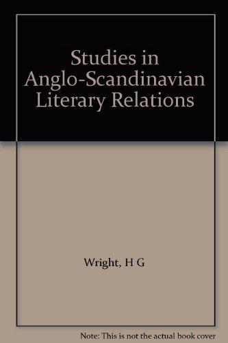 Studies in Anglo-Scandinavian Literary Relations