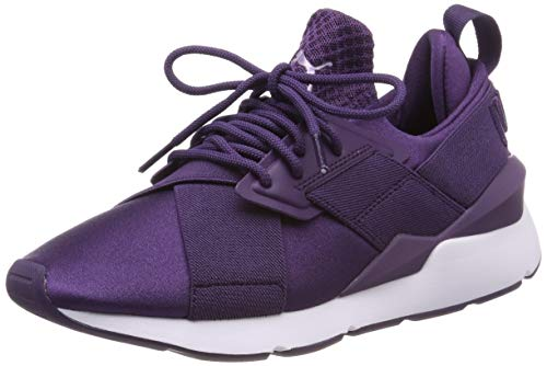 Puma Damen Muse Satin EP WN'S Sneaker, Blau (Indigo-Indigo 11), 39 EU (6 UK) (Puma Damen Schuhe Slip On)