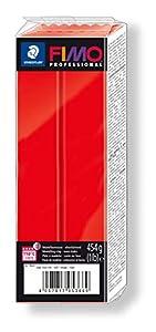 STAEDTLER 8041-200. Pasta para modelar Fimo Professional. Caja con 1 Pastilla de Color Rojo de 454 Gramos.