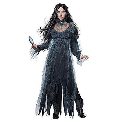 Bride Kostüm Damen Für Ghost Erwachsene - Jxth-Hal Halloween Kostüm für Damen Halloween Horror Ghost Bride Lost Kostüm Spiel Kostüm Bar Stage Demon Kostüm Kostümparty Cosplay (Farbe : Schwarz, Größe : XL)