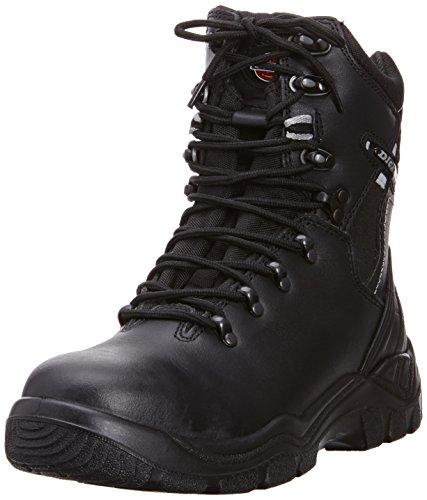 Dickies Sicherheitsstiefel Super Safety Quebec S1-P ungefüttert schwarz BK 7, FD23376 (Super-reißverschluss-stiefel)