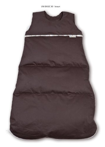 Premium Daunenschlafsack, längenverstellbar, Alterskl. älter 24 Monate, dunkelbraun, 130 cm