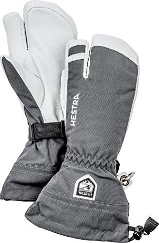 Hestra Herren Drei-Finger Skihandschuhe Army Leather Heli 3 grau (231) 9