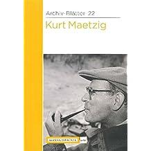 Kurt Maetzig (Archiv-Blätter)