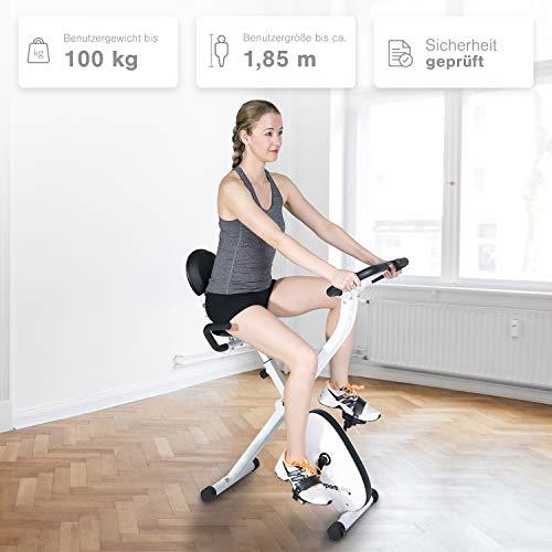 SportPlus - Vélo d'Appartement - Pliable  et ultra compact - Plusieurs Modèles disponibles - de 8 à 24 Niveaux de Résistance - Capteurs de Pouls intégrés - Selles ultra confortable - Sécurité testée