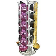 Jjonlinestore - Dispensador giratorio para 24Cápsulas de café Dolce Gusto, soporte Organizador para Almacenamiento de Cápsulas de café. Como regalo de Navidad