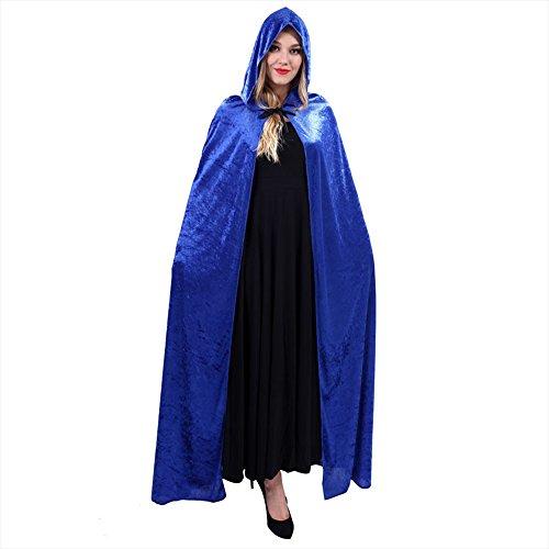 Eizur Lange Halloween Umhang mit Kragen Pleuche Hexe -