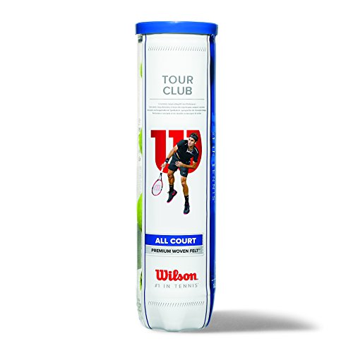 Wilson Tennisbälle Tour Club 4er, Gelb, 6, WRT114600