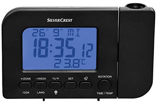 Unbekannt Funk-Projektionswecker Temperaturanzeige Kalender Schwarz