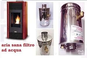 Filtro ad acqua abbattitore di fumi e ceneri per stufa a for Abbattitore di fuliggine stufe a pellet filtro fumo