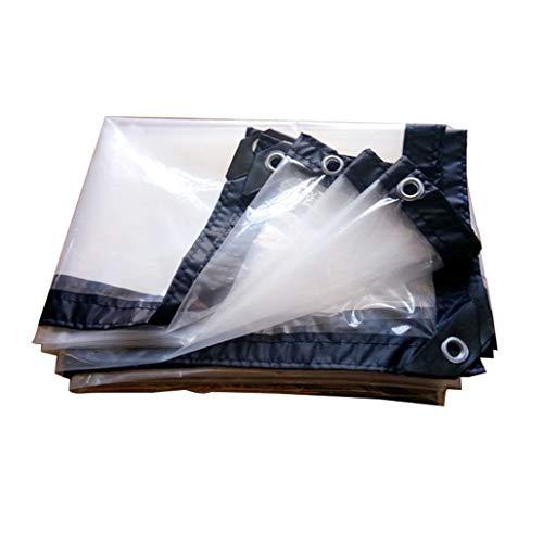 YYGU Plane Transparente Klare, Wasserdichte Kunststoff Polyethylen Abdeckplane, Mehrzweck Schutzplane mit Ösen und Verstärkte Kanten für Draussen,13x33ft(4x10m)