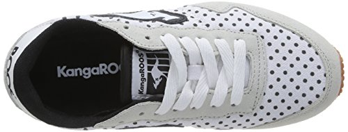 Kangaroos Invader Dots, Baskets mode femme Multicolore (White 000)
