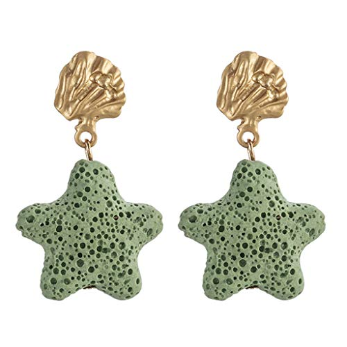 UINGKID Damen Ohrringe Mode Ohrstecker Vintage Neue Trend Einfache Stein Sterne Quadrat Weiblich