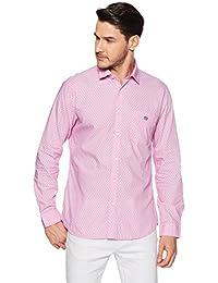 Van Heusen Sport Men's Printed Slim Fit Cotton Casual Shirt - B079LFPBCQ