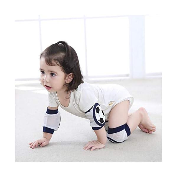 JIAHG Juego de protectores para niños y adultos, rodilleras, coderas, muñequeras gruesas, combinación reflectante, juego… 3