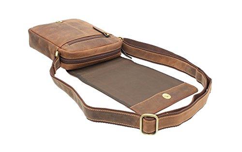 Visconti Leder Messenger-Tasche / Reisetasche, kompakt S7 Öl so Öl so