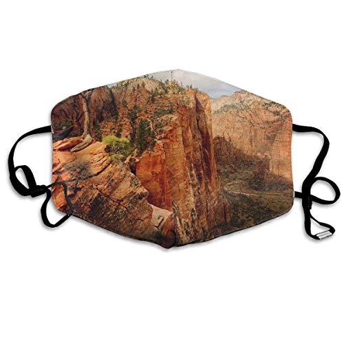HammockLiving Angels Landing Zion National Park Utah Mask Can Be Washed Reusable Mask One Size Multiple Colors -
