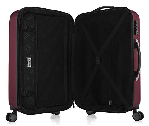 HAUPTSTADTKOFFER - Alex - NEU 4 Doppel-Rollen Großer Hartschalen-Koffer Koffer Trolley Rollkoffer Reisekoffer, TSA, 75 cm, 119 Liter, Burgund - 5