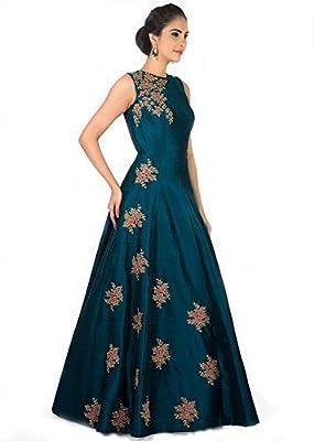SURTI FUNDA Women's Satin Gown (Multicolour, Free Size)