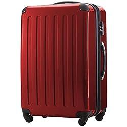 Principal Ciudad maletín ® Maleta de viaje XL · maletín rígido · Candado + equipaje Correa rojo 119 Liter Rot (ALEX) ca. 75 x 50 x 30 cm